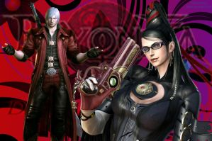 Bayonetta and Dante Wallpaper by PPGDBlossom