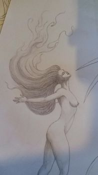 Fire Hair Lady (work in progress) by JohnOC89