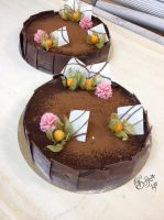 French chocolate cakes by Gwendelyn