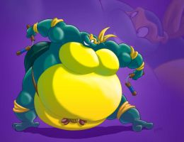 Massive sumo Mikey by RickyDemont