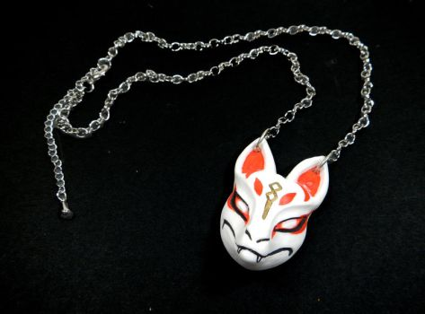 Fortnite Drift Kitsune Mask Necklace By Dragoncid On Deviantart