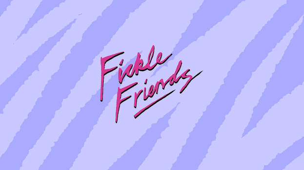 Fickle Friends Wallpaper (Blue) by JedDraws