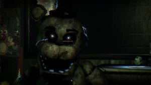 Golden Freddy in FNAF 3 by offhandatol