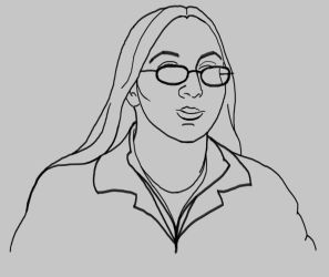 Self Portrait - Line Drawing by Xeroxed-Animus