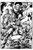 NEW AVENGERS inked by gammaknight