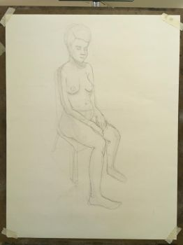 nude figure drawing by Ethan4