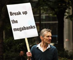 Protest the Banks by LouHartphotography