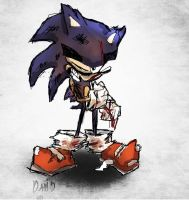 Battle Damaged Sonic by DaveTheSodaGuy