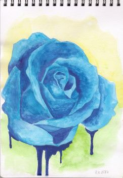 Blue Rose by Mo-onika