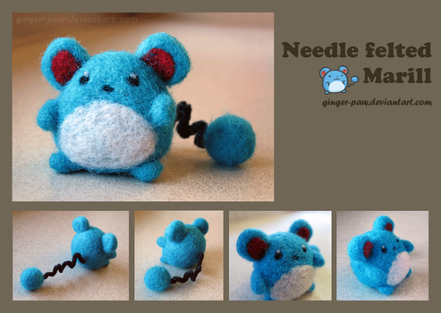 Needlefelt Marill by ginger-paw