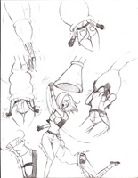 More Android 18 Sketches by AbsorberCell