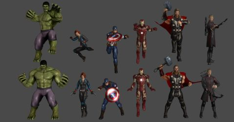 Avengers Pose Pack by WildGold