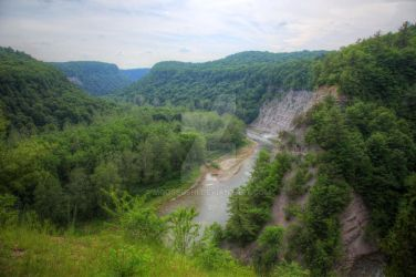 Genesee River Canyon II by Mooseushi