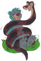 Jungle Cubs Hypnosis: Baloo and Kaa by KnightRayjack