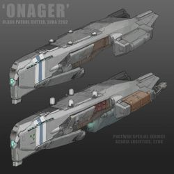 'Onager' Class Patrol Cutter by MikeDoscher