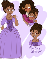 Hamilfied Martha Jefferson by CutieCakie