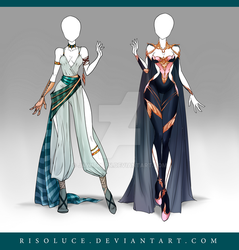 (CLOSED) Adoptable Outfit Auction 124-125 by JawitReen