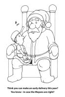 Christmas 2012 Santa cartoon by mayorlight