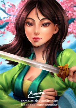 Mulan by enmoire