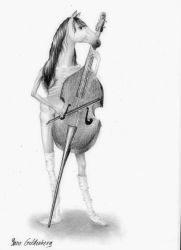 The cello player by ItsMyUsername