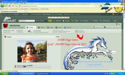 10000 Page views by absdostan
