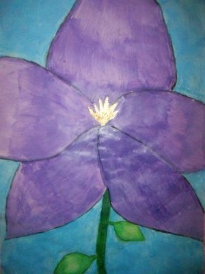 I painted a flower... by Infinity1028