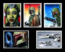 Star Wars Sketch Cards V by AstroVisionary