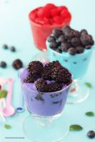 Refreshing Afternoon Snack - Fruity Frozen Yogurt by theresahelmer