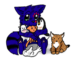 Pup and his Plushies by crazylunagirl