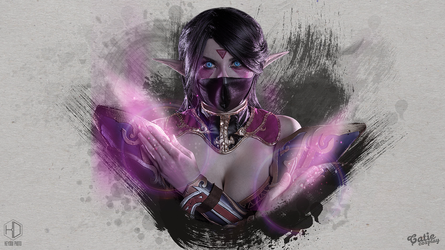 Templar Assassin cosplay wallpaper by amio-mio
