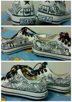 Doodle on Shoes by azahGTA