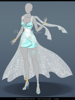(closed) Outfit Adopt 643 - Kamikaze by CherrysDesigns