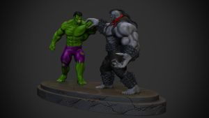 Hulk vs Pitt by synn1978