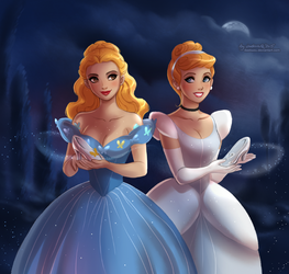 Cinderella: Ella vs Cindy by daekazu