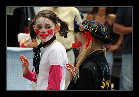 unsure clowns by MichelleMarie