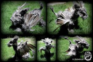 Fitzeir - Handmade OOAK poseable winged creature by SonsationalCreations