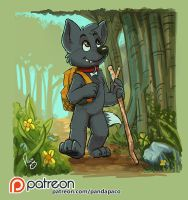 Jack and the trail by pandapaco