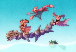 Steelix and co by francis-john