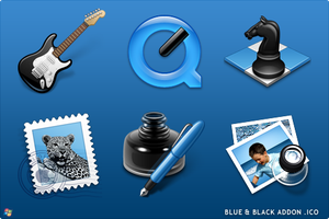 Blue Black Addon For Windows by ipholio