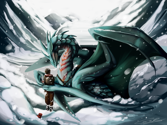 Winter Comission by Karoughh