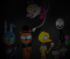 Five nights at Freddy's 2 by Pinkwolfly