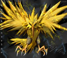 Zapdos Bringer of Lighting by SumikoOneeSan