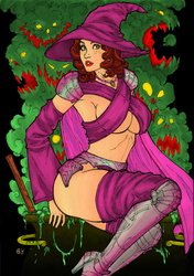 CP_4 - Apprentice Witch by LCFreitas Coloured by noitcartsbalatot