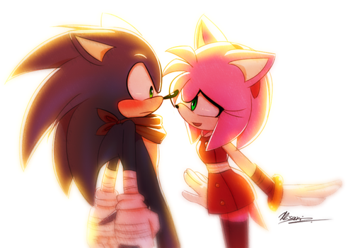 So... Sonic likes Amy in Sonic Boom by Myly14