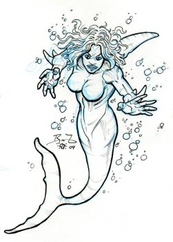 Sharklady commission by Bryce-Lee