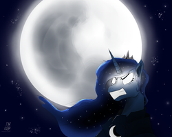 Princess Luna Guardian of the Night by Dextroscity
