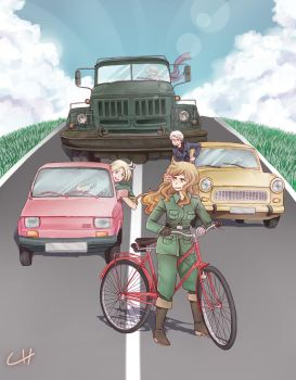 APH - Eastern bloc cars by Author-chan