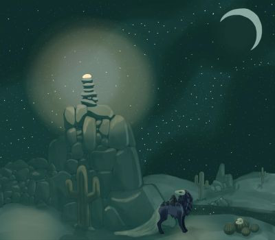 Lustrous Stone - Desert Night by Star-Squiddle