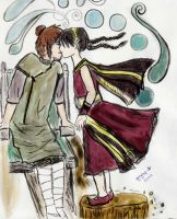 Teo and Toph Lip-Lock by clamjamfly