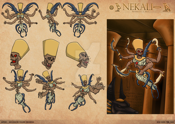 Nekali - Model Sheet by Eanny
